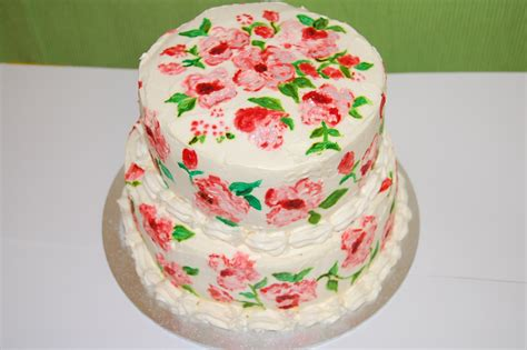 red velvet cake hand painted with fresh cream and cream cheese frosting myrainbowkitchen
