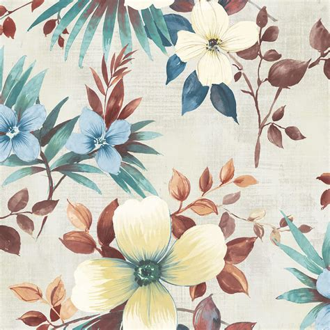 large flower wallpaper uk nh10201 large floral copper teal wallpaper senzai