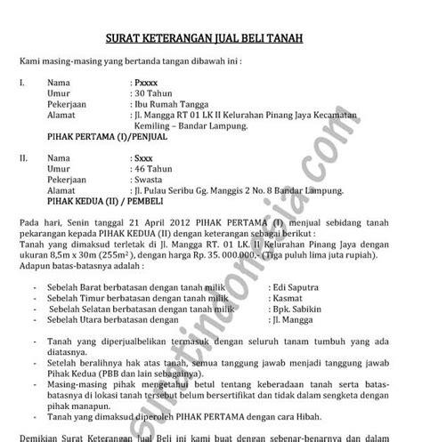format surat pernyataan ahli waris tanah contoh surat pernyataan jual beli tanah ahli waris