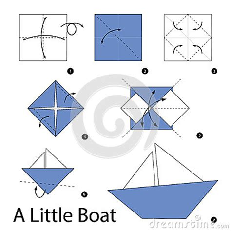 step by step how to make origami a boat