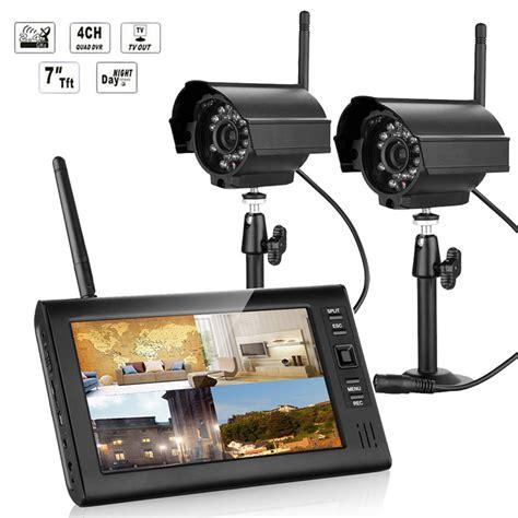 Cctv Wireless Infrared 208 Berkualitas wireless 7 quot tft lcd 4ch cctv dvr security system ir vision outdoor ebay
