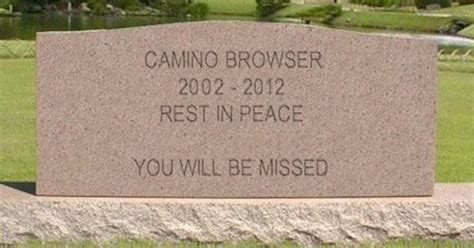 camino web browser camino web browser reaches its end of