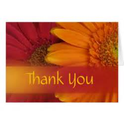 fall flowers thank you card zazzle