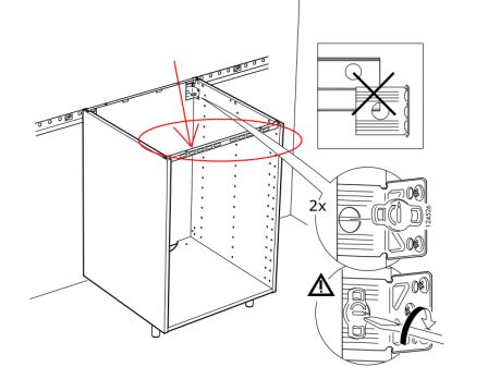 Fixer Une Armoire Au Mur Sans Percer by Fixer Plan De Travail Sur Meuble 2 Montage De Notre