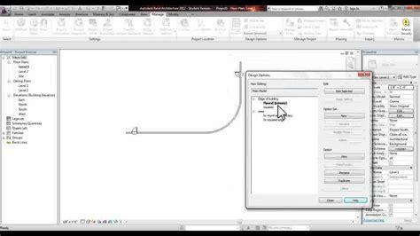 revit tutorial design options revit creating and managing design options youtube