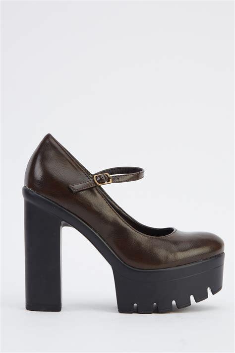 Platform Faux Leather Shoes faux leather platform shoes 3 colours just 163 5
