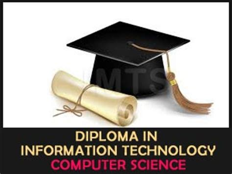 Mba After Masters In Computer Science by Diploma In Information Technology Computer Science Imts