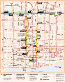 map of downtown toronto canada ttc system maps transit toronto content