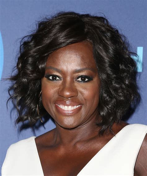 haircuts davis square viola davis medium curly formal hairstyle with side swept