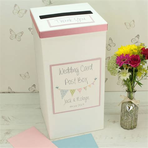 Wedding Post Box by Personalised Bunting Wedding Post Box By Dreams To Reality