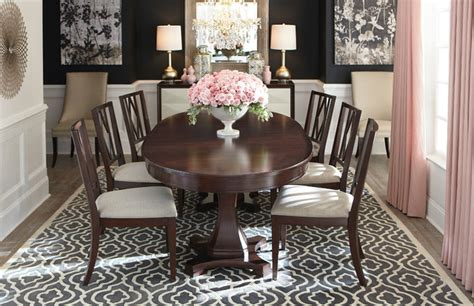 bassett dining room presidio oval dining table by bassett furniture