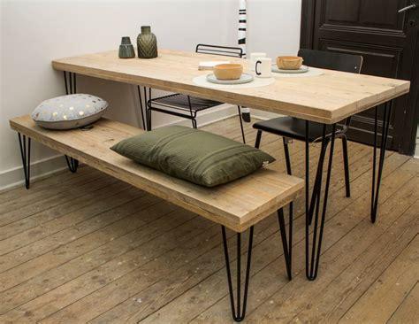 steigerhouten tafel 4 meter quot har quot table en pin recycl 233 au style industriel pure wood