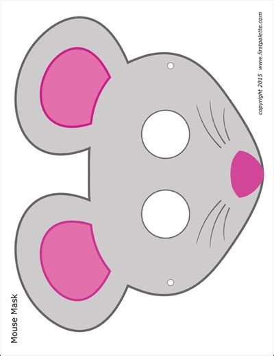 cat masks  printable templates coloring pages