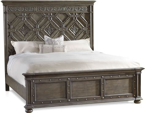 Gray Wood King Bed Vintage West Charcoal Gray Wood Cal King Panel Bed From Coleman Furniture