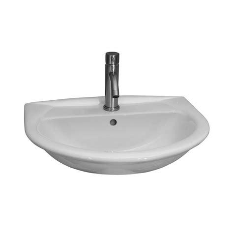 barclay products karla 450 wall hung bathroom sink in