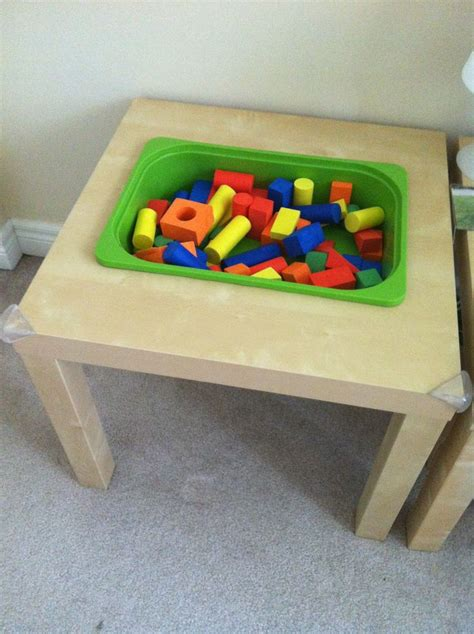 Diy Sensory Table by Ikea Hack Lack Side Table Plastic Storage Bin Diy Sensory Table Fill With Blocks Sand Rice