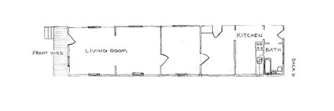The Unique History Of The Shotgun House Welcome To Horse Shotgun House Floor Plan