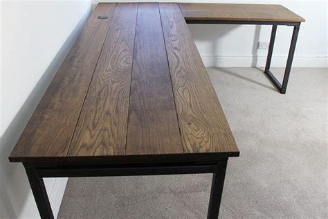 Industrial Corner Desk Vintage Industrial Desks Bespoke Style Office Uk Oak Steel