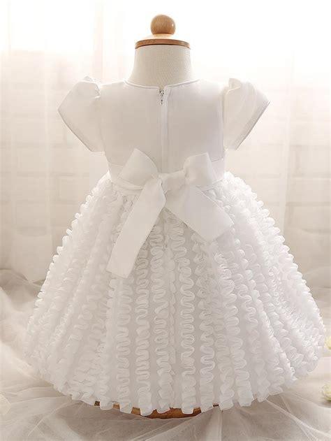 Dress Renda Baby baby dress newborn white christening gown 1 year