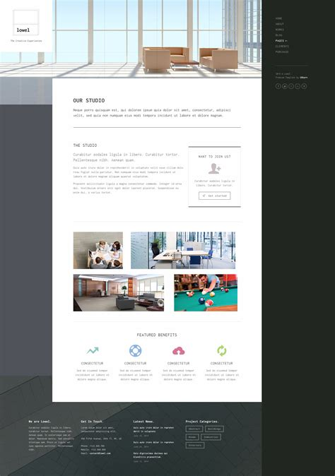 lowel responsive modern wordpress theme by uxbarn