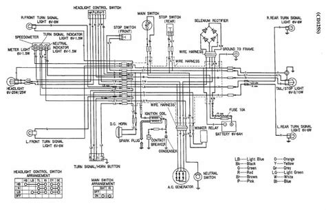 schematic diagram of honda motorcycles circuit and