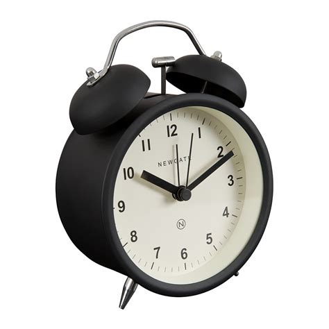 Alarm Clock buy newgate clocks bell alarm clock matt black amara