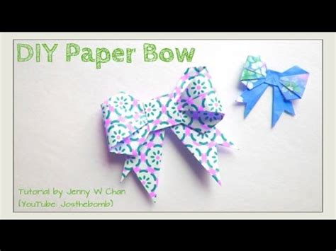 How To Make A Ribbon Paper - easter crafts paper bow origami bow how to make a