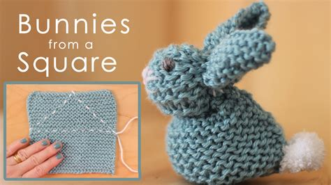 how to knit a easter how to knit a bunny from a square studio knit