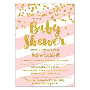 Pink Baby Shower Invitation Templates by Pink And Gold Baby Shower Invitations Templates Ideas