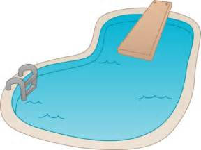 Swimming pool with ing board free clip art