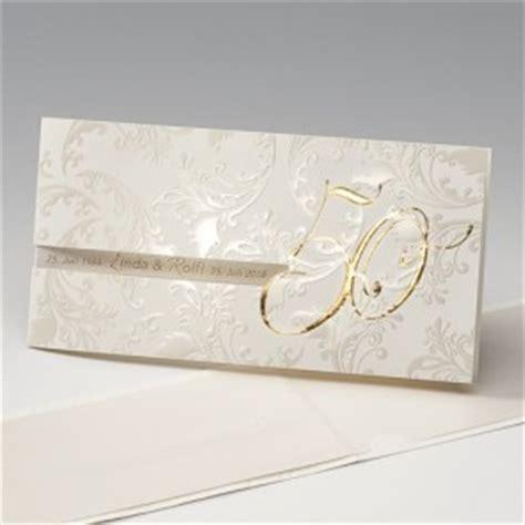 Hochzeit Einladungskarten Edel by Einladungskarten Goldene Hochzeit Mit Und Ohne Textdruck