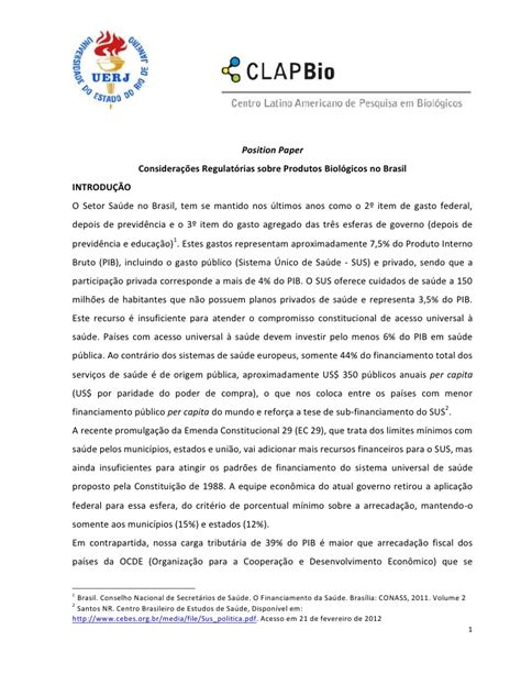 Position Essays by Position Paper Brasil 12mar 231 O2012