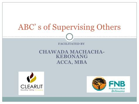 Of Mba Acca by Abc S Of Supervising Others