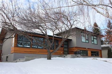 modern split level homes university heights split level contemporary exterior