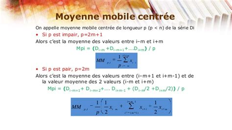 Modèle Moyenne Mobile