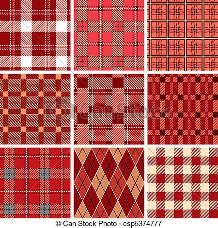 check pattern en francais vectors illustration of seamless red check pattern