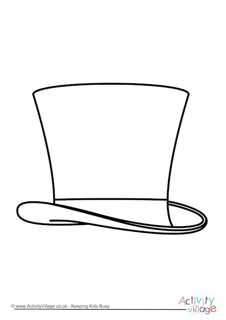 coloring page top hat top hat colouring page