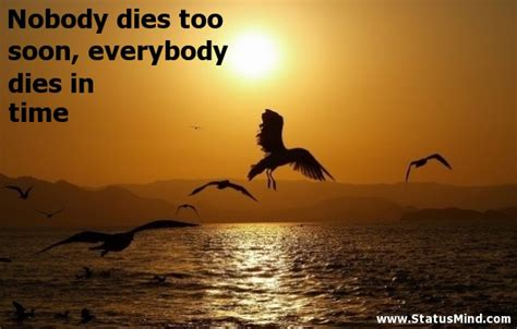 Nobody Died This Time by Nobody Dies Soon Everybody Dies In Time