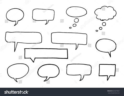doodle chat pencil doodle chat bubbles on paper stock vector 693679867