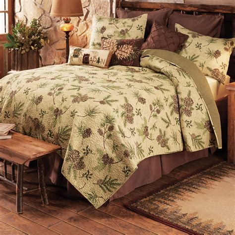 Pinecone Valley Quilt Bed Set   King