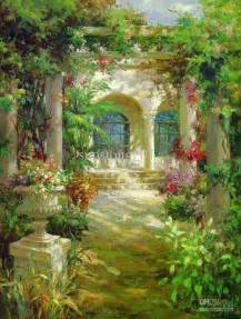 Paintings Of Flower Gardens Flower Garden Paintings The Interior Designs