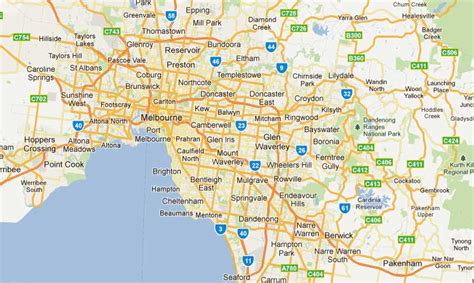 suburbs of map mebourne maps tourist cbd suburbs