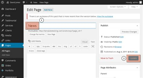 wordpress tutorial non blog wordpress how to change blog page title non cherry based