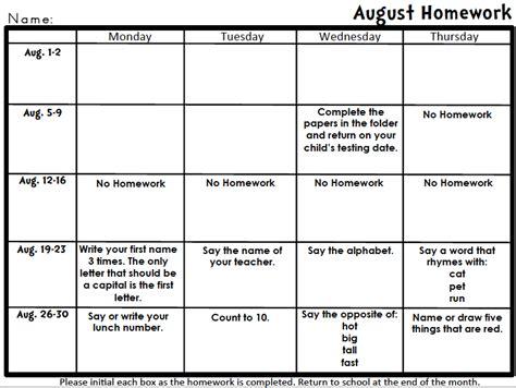 printable homework schedule worksheets free worksheets 187 pre school homework free math