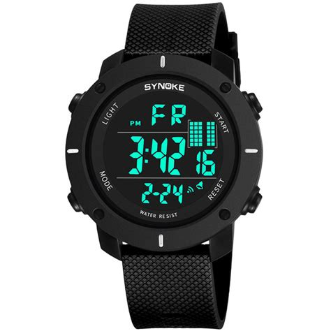 Jam Tangan Sporty Led Murah synoke jam tangan digital sporty pria 9658 black