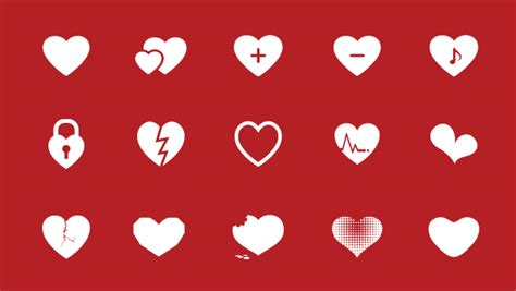 flat design icon heart free pack of flat simple heart icon vector clipart best