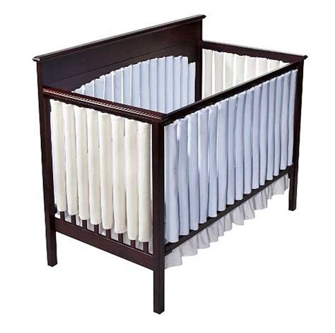 Vertical Bumpers For Cribs by Bumper Vertical Crib Liners Blue 24