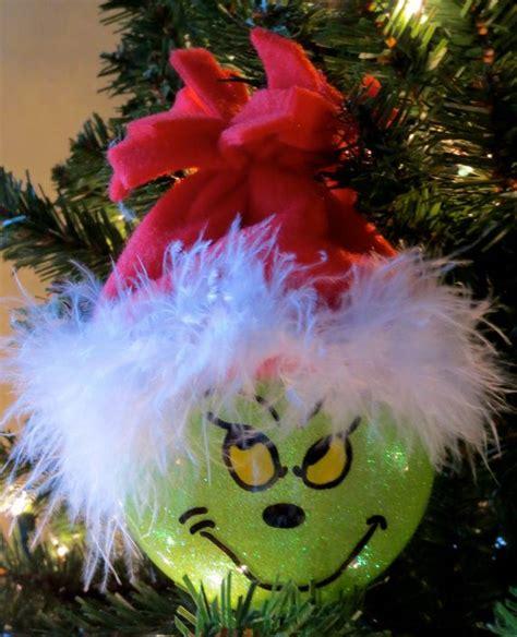 grinch ornaments ideas  pinterest grinch