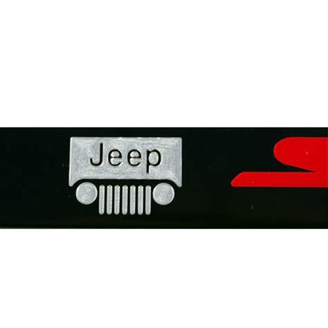 Jeep License Plates Jeep Grille Srt Satin Black License Plate Frame