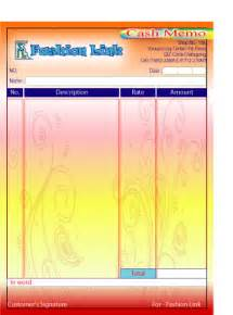 Online Design Software cash memo design online tiger